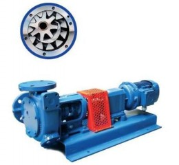 Gear pumps with internal teeth