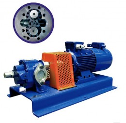 Gear pumps with external teeth