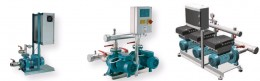 Pressure booster installations with or without frequency regulat